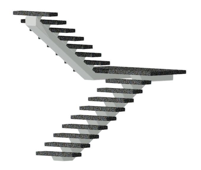 Stairman-metalltrepid-Ühetalatrepp