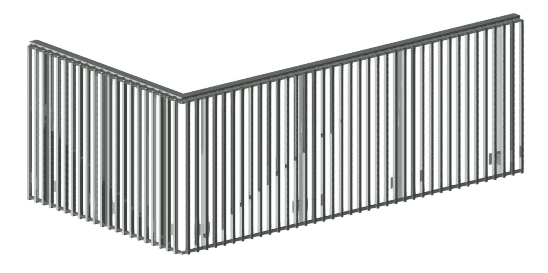 Grated railings