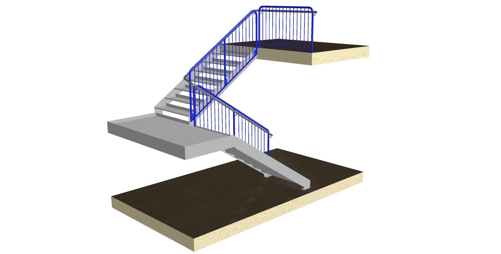 Stairman-trepikoja piirded 1-Käsipuuga